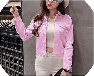 Brittany-Breanna denim-jackets Chamarra de Verano para Mujer, de Manga Larga, Estilo Coreano, para otoño, Chamarra de Mujer