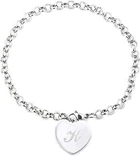 Cherisherre Stainless Steel Bracelet Heart-Shaped Peach Heart Letter Anklet