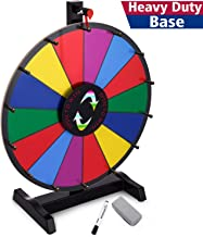 T-SIGN 18 Inch Heavy Duty Table Prize Wheel Spin, 14 Slots Color Spinning Prize Wheel Spinner with Dry Erase Marker and Eraser for Carnival and Trade Show, Win The Fortune Spin Game
