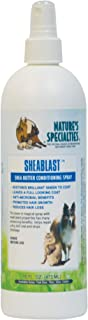 Nature's Specialties Dog Anti-Microbial Medicated Conditioner Spray for Pets, Leave-in, Made in USA, SheaBlast, 16oz