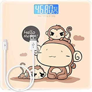 YQSHYP Weight Scale, High Precision Square Electronic Bathroom Scales - Toughened Glass,Easy To Read Digital Display, Instant Precise Reading with Step-On Feature