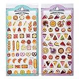 Mind Wave Japanese Foodies Paper Sticker Sheets/Set of 2 (Tarts [ 79362 ] + Bakery [ 79363 ])