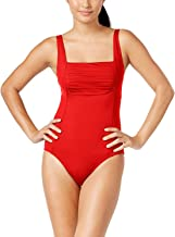 Calvin Klein Women's Shirred One-Piece Swimsuit