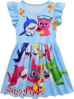 Áo quần dành cho bé gái – Baby Girls Pajamas Nightgown Shark Princess Casual Dresses,Hoodoe Light Coat Jackets(18M-6Y)