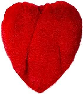 Women's Red Faux Fur Fox Heart Cape Outerwear Winter Warm Party Evening Coat