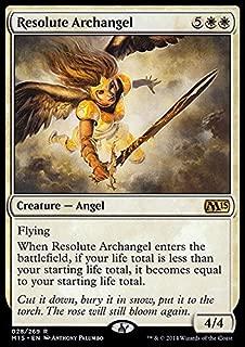 Magic: the Gathering - Resolute Archangel (028/269) - Magic 2015