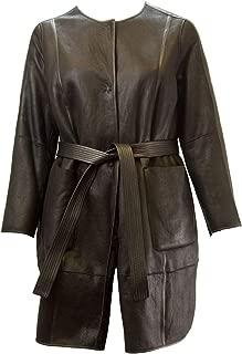Marina Rinaldi Women's Ebano Reversible Sheepskin Coat, Black