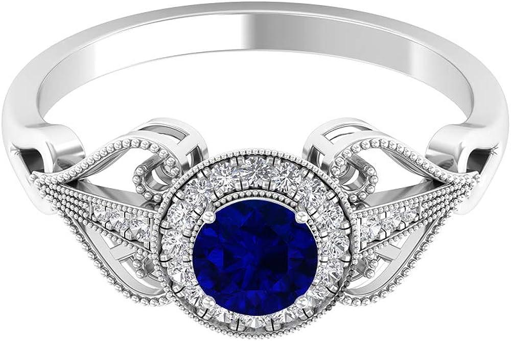 Solitaire Halo Max 80% OFF Ring Diamond Ri Engagement Accent Max 47% OFF Milgrain