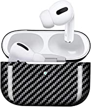 MONOCARBON Genuine Carbon Fiber Case Compatible for New AirPods Pro with Wireless Charging Case Slim Carbon Fiber Cover for Apple Air Pods 3 Earbuds - Glossy Finishing