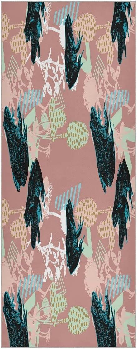Art Paint Frog service Yoga Towel Mat Non Super Surprise price Odorless Soft Slip Sweat