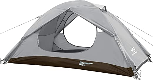 Bessport Camping Tent for 1&10 Person Waterproof & Windproof Cabin Tent, 3-4 Seasons Easy Setup Tent for Outdoor Camping Tent, for Outdoor, Courtyard, Park