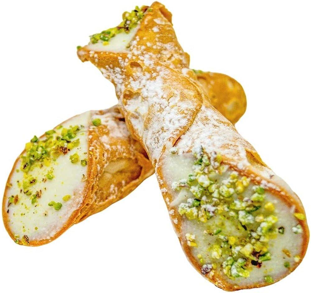 Etnazar, cannoli siciliani grandi alla ricotta, 10 cannoli grandi con ricotta fresca