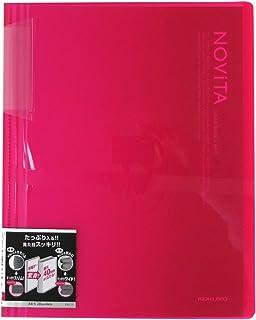 コクヨ ファイル クリアファイル ノビータ 固定式 A4 20ポケット ピンク ラ-N20P