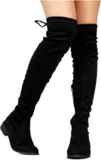 2884e3b41896 RF ROOM OF FASHION Women s Stretchy Over The Knee Riding Boots