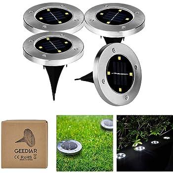 10 pezzi LED a luce solare lampada solare Acciaio inox Lampada da giardino Lampada Wegleuchte