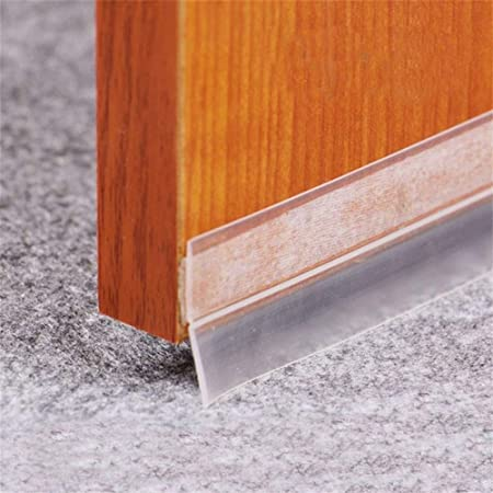 4M Door Bottom Self Adhesive Weather Stripping Silicone Rubber Seal Sweep Strip