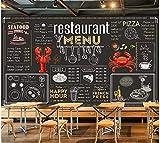 Fototapeten Wand Tapete Wohnzimmer Schlafzimmer-Handgemalte Tafel Kreide Wort Restaurant Hot Pot Restaurant Hintergrund Wand, 350Cmx245Cm (137,8 X 96,5 Zoll)