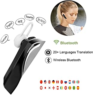 Wireless Translator Earbuds with Built-in Microphone, 20+ Languages Bluetooth 5.0 Real-time Translator Headset Andriod & iOS System for Traveling Business Meeting Learning Shopping