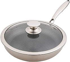 Wok Thickened Stainless Steel Pan Frying Pan Non-Stick Three-Layer Steel Frying Pan Wok Universal Pot Cast Wok