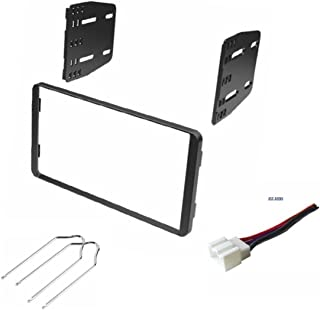 ASC Audio Double Din Car Stereo Install Dash Kit, Wire Harness, and Radio Tool for Installing an Aftermarket Radio for some Ford Vehicles - Compatible Vehicles Listed Below