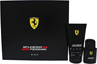 Ferrari Ferrari Black By Ferrari for Men - 2 Pc Gift Set 1.3oz Edt Spray, 5.0oz Hair & Body Wash, 2count