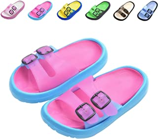 Toddler Little Kids Summer Sandals Non-Slip Boy Girl Slide Lightweight Beach Water Shoes Shower Pool Slippers