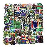 50Pcs Cartoon Teenage Mutant Ninja Turtles TMNT Theme Vinyl Waterproof Stickers for Water Bottle Cup Laptop Guitar Car Motorcycle Bike Skateboard Luggage Box Graffiti Patches CMLD