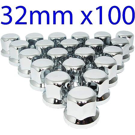 10 x 33 mm camion ALETTA-tappi copertura bulloni della ruota-Copertura tappo di protezione ABS DA