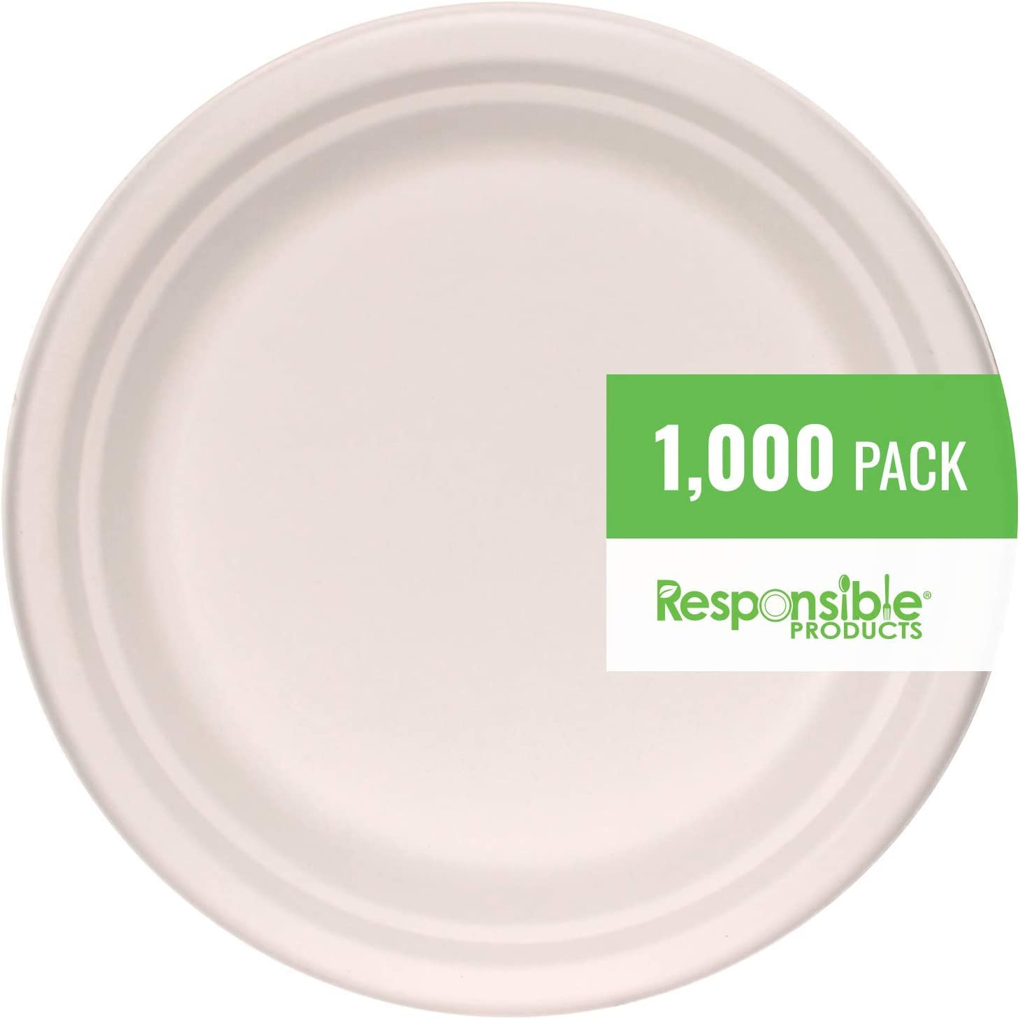 Responsible Products Sales 100% Compostable Special price 7 Streng Plates Extra Inch