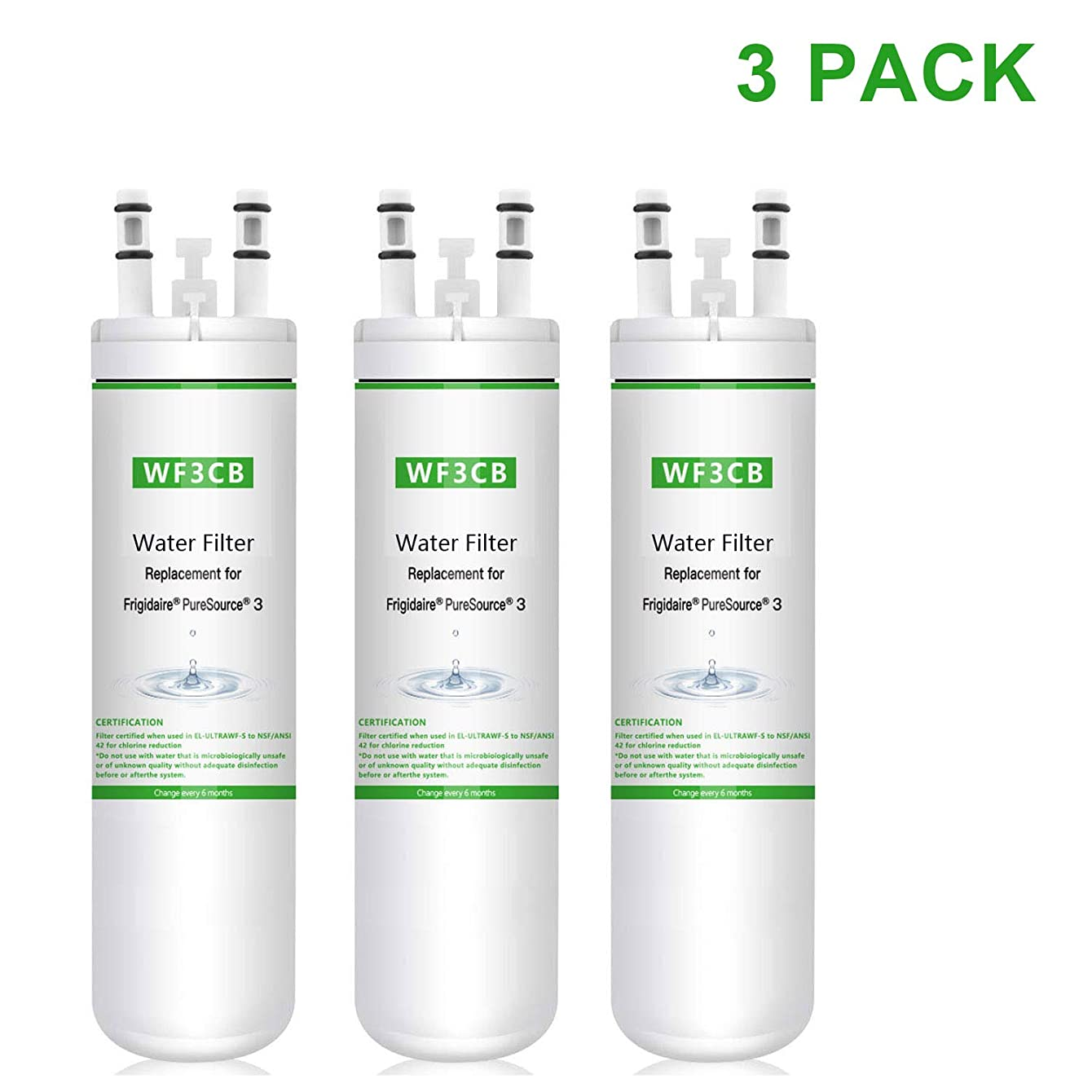 LXQS Refrigerator Pure Source 3 for Frigidaire Water Filter (3)