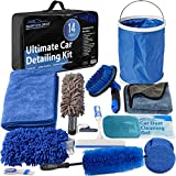 Relentless Drive Car Wash Kit, 14 Pcs Car Cleaning Kit for Exterior Car Cleaner & Car Interior Cleaner, The Ultimate Car Detailing Kit Designed to Last & Safe for All Surfaces
