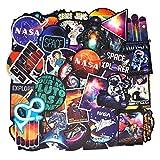 100PCS Rétro Vintage Stickers (Astronaute/Espace/Galaxie) Valise Autocollants pour Valise Voyage Skateboard Guitare Ordinateur Portable
