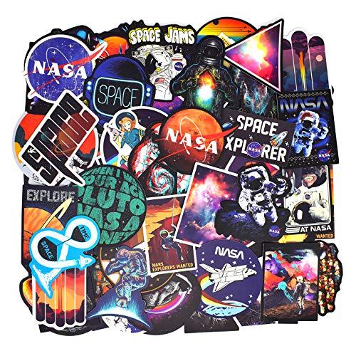 100 Stück Retro Vintage Sticker (Astronaute/Espace/Galaxie) Koffer Aufkleber für Koffer Reise Skateboard Gitarre Laptop