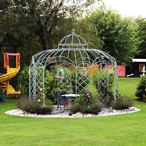 Pavillon, Gartenpavillon, Pavillon Metall, Gartenlaube, Eisenpavillon Roma Ø 350 cm (Eisenblank)