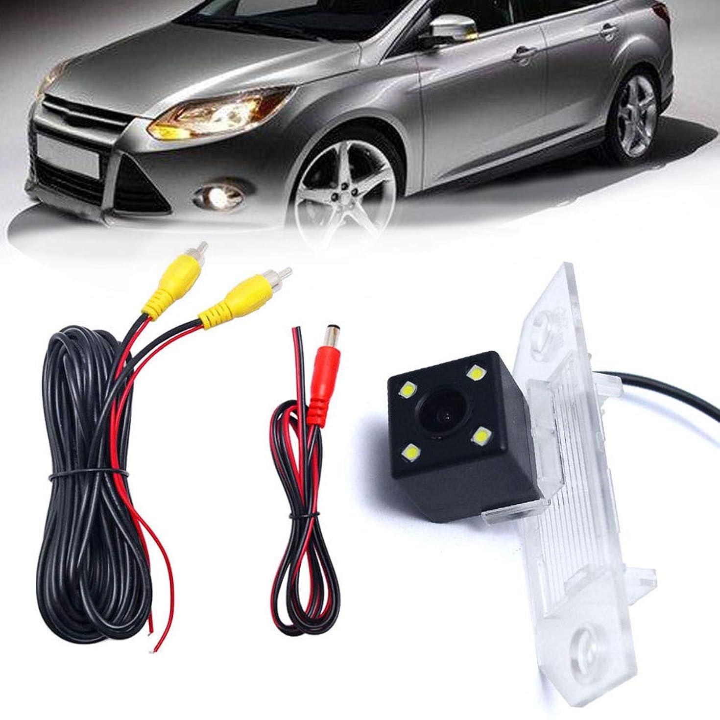 Saying Waterproof Car Backup Camera, Rear View Backup Camera with 4 LED for Ford Focus Sedan/Hatchback, Assist Park System Kit