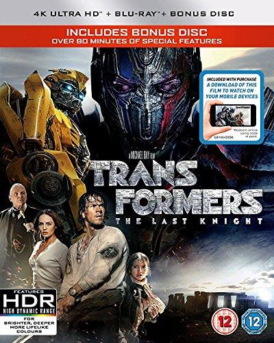 Transformers: The Last Knight (Uhd/Bd + Itunes + Bonus Disc) (3 Blu-Ray) [Edizione: Regno Unito] [Italia] [Blu-ray]