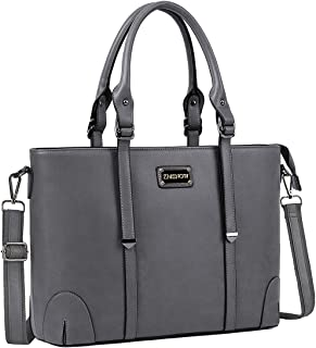 ZMSnow Laptop Bag, Work Tote Bag Fits Up to 15.6 Inch Laptop Tablet Notebook for Women Business Travel