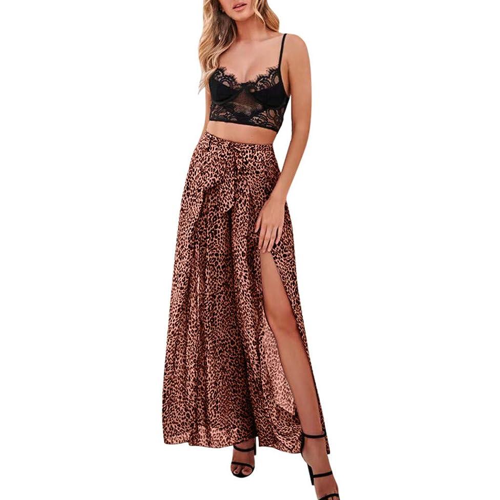 Womens Palazzo Lounge Pants Leopard Slit Flowy Paper Bag Pant Tie Bow Wide Leg Cropped Trousers Summer Casual Yoga Workout Capri Pants