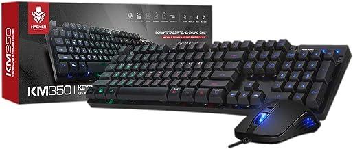 ABKO KM350 Desktop Keyboard & Mouse Gaming Combo Rainbow LED, 19 Key Anti-Ghosting, Max 3200 DPI English/Korean Type