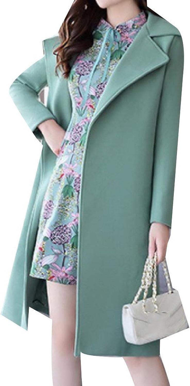AGAINGWomen Againg Women's Straps Hipster Dress TwoPiece Suit Woolen Gown Trench Coat