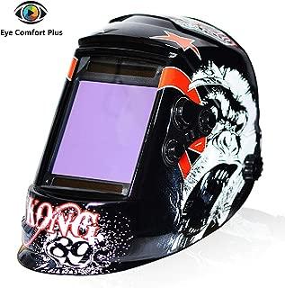 Tekware Welding Helmet 4C Lens Technology Solar Power Auto Darkening Hood True Color LCD Welder Mask Ultra Large Viewing Area Breathable Grinding Helmets with Adjustable Shade Range