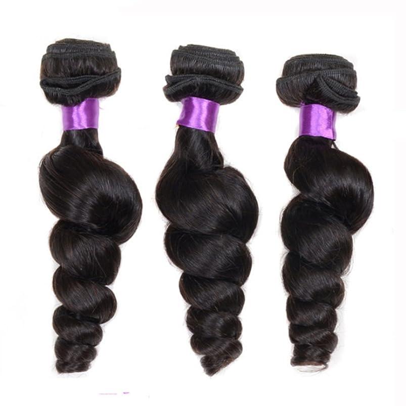 国懲戒クラウンDoyvanntgo ブラジル人のためのナチュラルブラックカーリーヘアカーテンカールカールと女性のための染め毛の毛(8?28インチ) (サイズ : 24inch)