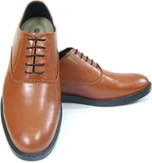 ASM Police Tan Derby Dress Leather Uniform Shoes with TPR (Thermo Plastic Rubber) Sole,Leather Insole, Fully Leather Lining and PU Foot pad for Optimum Comfort for Men. Article 106PD (7)