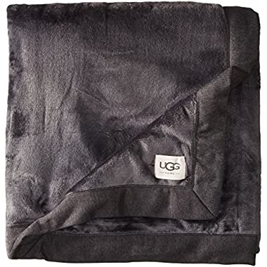 UGG B2 Unisex-Adults Duffield Throw, Black Bear Heather, One Size