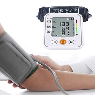 RGFITNESS Monitor De Presión Arterial Digital/Presión Arterial Monito con USB Recargable, medición automática automática de la presión Arterial y el Pulso cardíaco con Brazalete de Amplio Rango