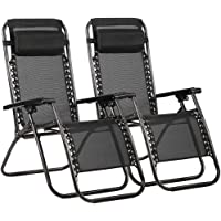 2-Pack FDW Zero Gravity Outdoor Lounge Patio Chairs
