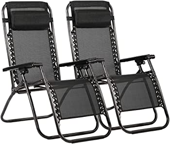 2 Pack FDW Zero Gravity Outdoor Lounge Patio Chairs