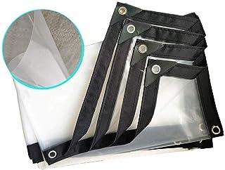 YLJYJ Lona, Patio Lona Impermeable Espesa Ventana de PVC Transparente Aislamiento del Parabrisas Protección contra el frío, 22 tamaños (Color: Transparente, Tamaño: 2x4m)