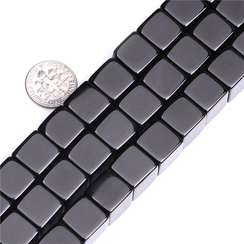 Black Agate Beads for Jewelry Making Natural Gemstone Semi Precious 12mm Square 15