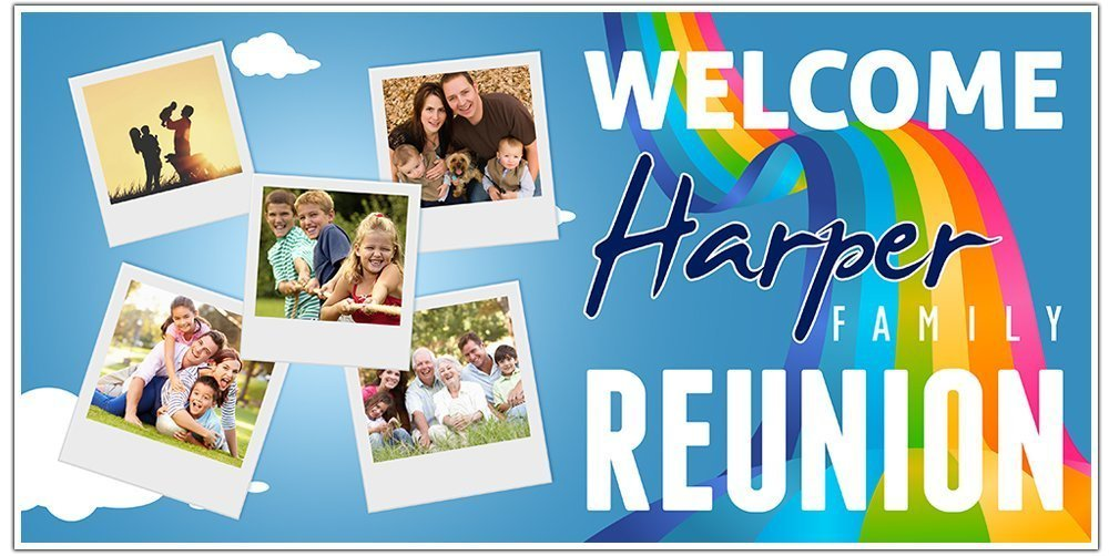 Family Limited time for free shipping Ranking TOP14 Reunion Party Banner Decoration Backdrop